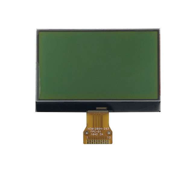 128x64 Wearable Lcd Screen / COG +FPC + PCB Mono Lcd Display 12864