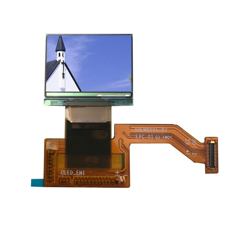 0.95 inch mini amoled screen with mipi interface and paper thin thickness